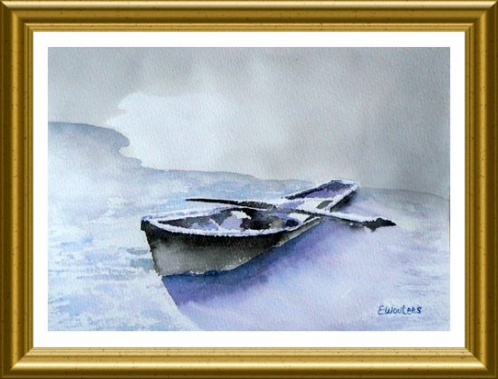 Repos hivernal - Aquarelle 2010 (Emile Wouters)